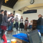 The Far From The Madding Crowd company in rehearsals